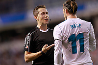 Real Madrid's Gareth Bale have words with the referee Jose Luis Gonzalez Gonzalez during La Liga match. August 20,2017.  *** Local Caption *** © pixathlon
