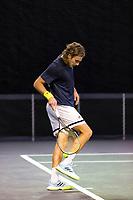 Rotterdam, The Netherlands, 2 march  2021, ABNAMRO World Tennis Tournament, Ahoy, Practice: Stefanos Tsitsipas (GRE).<br /> Photo: www.tennisimages.com/henkkoster