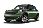 Stock pictures of low aggressive front three quarter view of a 2015 MINI Countryman Base 4 Door Hatchback Low Aggressive