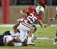 STANFORD, CA - November 6, 2010: Tyler Gaffney on a run during a 42-17 Stanford win over the University of Arizona, in Stanford, California.