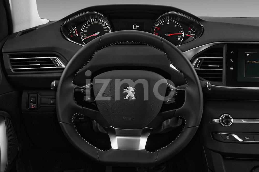 Car pictures of steering wheel view of a 2018 Peugeot 308 SW Allure 5 Door Wagon