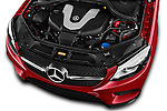 Car Stock 2016 Mercedes Benz GLE-Coupe - 5 Door Suv Engine  high angle detail view