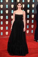 Felicity Jones<br /> at the 2017 BAFTA Film Awards held at The Royal Albert Hall, London.<br /> <br /> <br /> ©Ash Knotek  D3225  12/02/2017