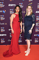 Alex Scott and Kelly Smith<br /> at the BT Sport Industry Awards 2017 at Battersea Evolution, London. <br /> <br /> <br /> ©Ash Knotek  D3259  27/04/2017