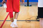 Jaime Fernandez's legs after the training of Spanish National Team of Basketball 2019 . July 26, 2019. (ALTERPHOTOS/Francis González)