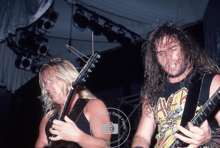 SLAYER Slayer, Jeff Hanneman, Kerry King, Photo By David Plastik/IconicPix 1988 Los Angeles