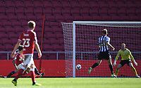 27th September 2020; Ashton Gate Stadium, Bristol, England; English Football League Championship Football, Bristol City versus Sheffield Wednesday;  Jamie Paterson of Bristol City shoots and scores in 90th minute for 2-0