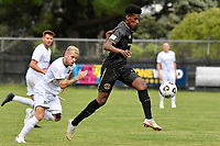Nathanael Hailemariam of Team Wellington during the ISPS Handa Men's Premiership - Team Wellington v Hawke's Bay United at David Farrington Park, Wellington on Saturday 21 November 2020.<br /> Copyright photo: Masanori Udagawa /  www.photosport.nz