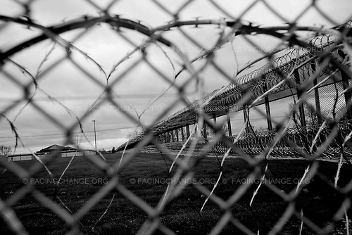 Joliet , Illinois USA. <br /> March 2010 <br /> <br /> A view of the confinement unit from outside the perimeter of the Joliet maximum security youth prison.