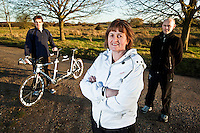 10 DEC 2011 - NORFOLK, GBR - Jill Dawson (centre) with  her husband, paratriathlete Iain  Dawson (right) and, his guide Luke Watson (left) (PHOTO (C) NIGEL FARROW)
