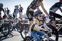 Jos van Emden junior joining his dad to the race start in Riemst<br /> <br /> 17th Benelux Tour 2021<br /> Stage 5 from Riemst to Bilzen (BEL/192km)<br /> <br /> ©kramon