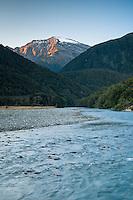 Makarora river near Makarora, Mt. Aspiring NP, Central Otago, New Zealand