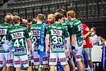 Hartmut Mayerhoffer (Trainer FRISCH AUF! Goeppingen) ; mit Team / BGV Handball Cup 2020 Finaltag: TVB Stuttgart vs. FRISCH AUF Goeppingen am 13.09.2020 in Stuttgart (PORSCHE Arena), Baden-Wuerttemberg, Deutschland<br /> <br /> Foto © PIX-Sportfotos *** Foto ist honorarpflichtig! *** Auf Anfrage in hoeherer Qualitaet/Aufloesung. Belegexemplar erbeten. Veroeffentlichung ausschliesslich fuer journalistisch-publizistische Zwecke. For editorial use only.