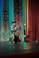 Mongolia, Ulaanbaatar. Tumen Ekh Cultural show.
