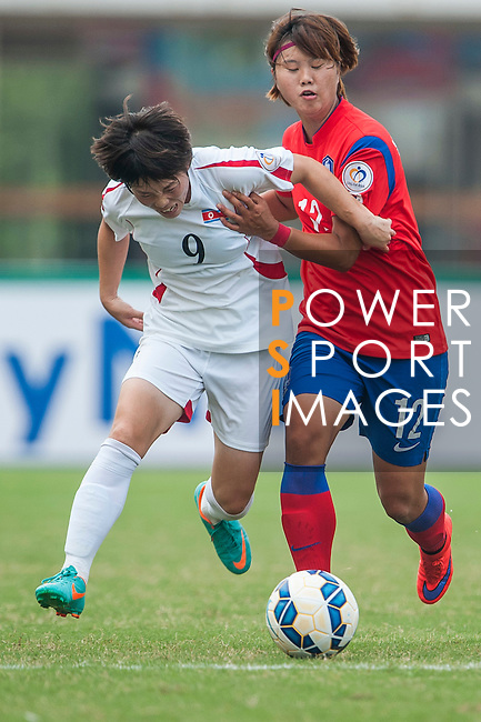 Korea Republic vs DPR Korea during the AFC U-19 Women's Championship China group B match at the Jiangning Sports Center on 23 August 2015 in Nanjing, China. Photo by Xaume Olleros / Power Sport Images