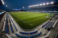 SAN JOSE, CA - OCTOBER 07: Earthquakes Stadium during a game between Vancouver Whitecaps and San Jose Earthquakes at Eathquakes Stadium on October 07, 2020 in San Jose, California.
