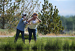 Breast cancer survivor Jeannie Drown learns from guide Kellen Brehm during a Casting for Recovery retreat in Gardnerville, Nev., on Friday, June 30, 2017. <br /> Photo by Cathleen Allison/Nevada Photo Source