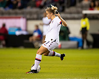 HOUSTON, TX - FEBRUARY 03: Abby Dahlkemper #7 of the USA during a game between Costa Rica and USWNT at BBVA Stadium on February 03, 2020 in Houston, Texas.