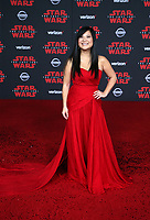 LOS ANGELES, CA - DECEMBER 9: Kelly Marie Tran, at Premiere Of Disney Pictures And Lucasfilm's 'Star Wars: The Last Jedi' at Shrine Auditorium in Los Angeles, California on December 9, 2017. Credit: Faye Sadou/MediaPunch /NortePhoto.com NORTEPHOTOMEXICO