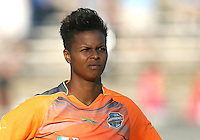 Karina LeBlanc #23 of the Philadelphia Independence during a WPS match against the Boston Breakers at John A. Farrell Stadium on August 29 2010, in West Chester, PA. Breakers won 2-1.