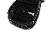 Car stock 2017 Dodge Charger SXT 4 Door Sedan engine high angle detail view
