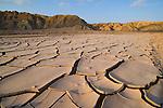 Drought patterns in dry creek bed in Atacama Desert