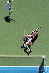 GER - Mannheim, Germany, May 27: During the women semi-final match between UHC Hamburg and Rot-Weiss Koeln at the Final4 tournament May 27, 2017 at Am Neckarkanal in Mannheim, Germany. (Photo by Dirk Markgraf / www.265-images.com) *** Local caption ***