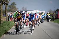 Tom Boonen (BEL/Quick-Step Floors) & Philippe Gilbert (BEL/Quick Step floors) set the pace in the leaders group<br /> <br /> 101th Ronde Van Vlaanderen 2017 (1.UWT)<br /> 1day race: Antwerp › Oudenaarde - BEL (260km)