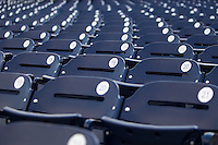 Empty seats at TD Ameritrade Park in Omaha, Nebraska. (Andrew Woolley/Four Seam Images)