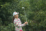 Char Young Kim of South Korea  tees off at the 2nd hole during Round 3 of the World Ladies Championship 2016 on 12 March 2016 at Mission Hills Olazabal Golf Course in Dongguan, China. Photo by Lucas Schifres / Power Sport Images