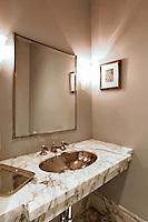 Marble bathroom worktop