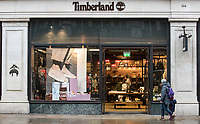 General view of the TIMBERLAND store in Regent Street as Beast from the East weather continues at City of London, London, England on 1 March 2018. Photo by Andy Rowland.