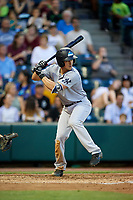 Trenton Thunder third baseman Mandy Alvarez (3) at bat during a game against the Richmond Flying Squirrels on May 11, 2018 at The Diamond in Richmond, Virginia.  Richmond defeated Trenton 6-1.  (Mike Janes/Four Seam Images)