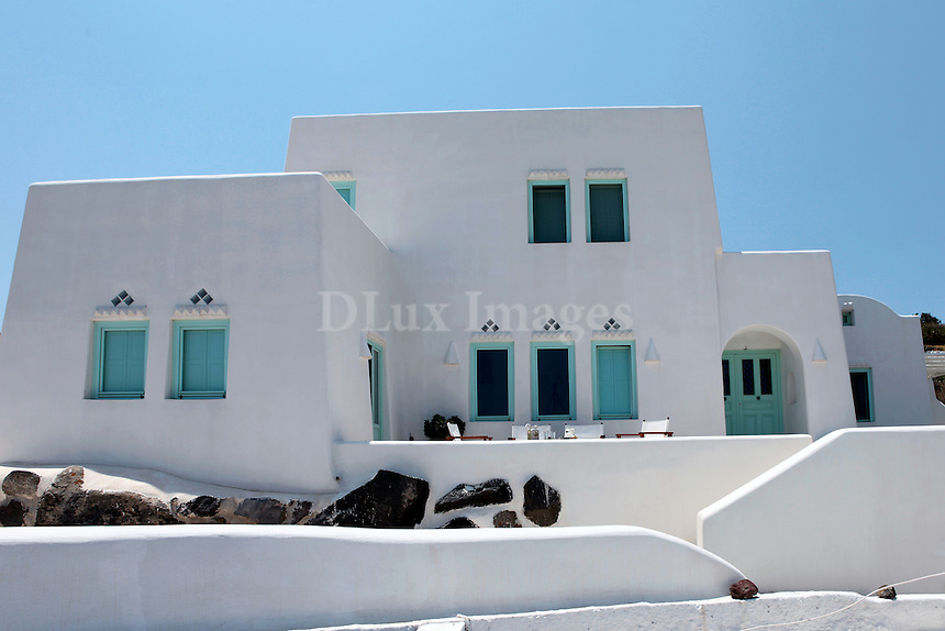 traditional white cottage house