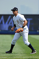 Staten Island Yankees infielder Fu-Lin Kuo (61) during game against the Auburn Doubledays at Richmond County Bank Ballpark at St.George on August 2, 2012 in Staten Island, NY.  Auburn defeated Staten Island 11-3.  Tomasso DeRosa/Four Seam Images