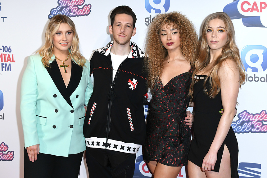 Ella Henderson, Sigala, Ella Eyre and Becky Hill<br /> at the 2019 Jingle Bell Ball, O2 Arena, London.<br /> <br /> ©Ash Knotek  D3544 08/12/2019