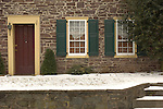 Colonial house front, New Hope, Pennsylvania