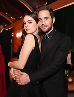 BEVERLY HILLS - JANUARY 5: (L-R) Molly Gordon and THE POLITICIAN cast member Ben Platt attend The Walt Disney Company 2020 Golden Globe Awards Nominee Celebration at The Disney Terrace on the Roof Deck at the Beverly Hilton on January 5, 2020 in Beverly Hills, California. (Photo by Frank Micelotta/The Walt Disney Company/PictureGroup)