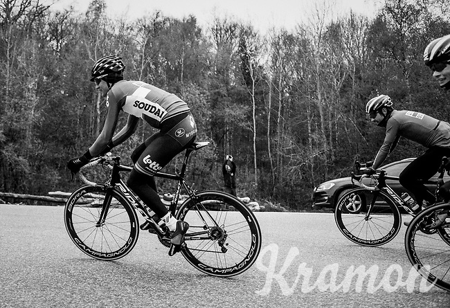 Tim Wellens (BEL/Lotto Soudal)<br /> <br /> Team Lotto-Soudal at the Liège-Bastogne-Liège 2017 recon