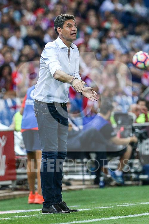 Deportivo Alaves's Mauricio Pelegrino during the match of La Liga Santander between Atletico de Madrid and Deportivo Alaves at Vicente Calderon Stadium. August 21, 2016. (ALTERPHOTOS/Rodrigo Jimenez)