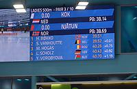 SPEEDSKATING: HEERENVEEN: 11-01-2020, IJsstadion Thialf, European Championship distances, 500m Ladies, Femke Kok (NED), scorebord, ©foto Martin de Jong