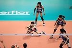 Libero Mako Kobata of Japan (C) pass during the FIVB Volleyball World Grand Prix match between Japan vs Russia on 23 July 2017 in Hong Kong, China. Photo by Marcio Rodrigo Machado / Power Sport Images