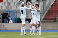 6th June 2021, Stade Josy Barthel, Luxemburg; International football friendly Luxemburg versus Scotland;  Che Adams Scotland celebrates after scoring for 0-1
