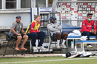 Simon Harmer of Essex (2nd L) looks on during Essex Eagles vs Sussex Sharks, Vitality Blast T20 Cricket at The Cloudfm County Ground on 15th June 2021