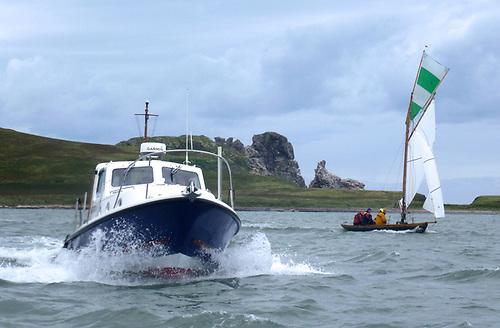 There were as many support boats as racers when the Howth 17s went round Lambay
