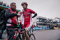 Nicolas Edet (FRA/Cofidis) after finishing<br /> <br /> 76th Paris-Nice 2018<br /> Stage 7: Nice > Valdeblore La Colmiane (175km)