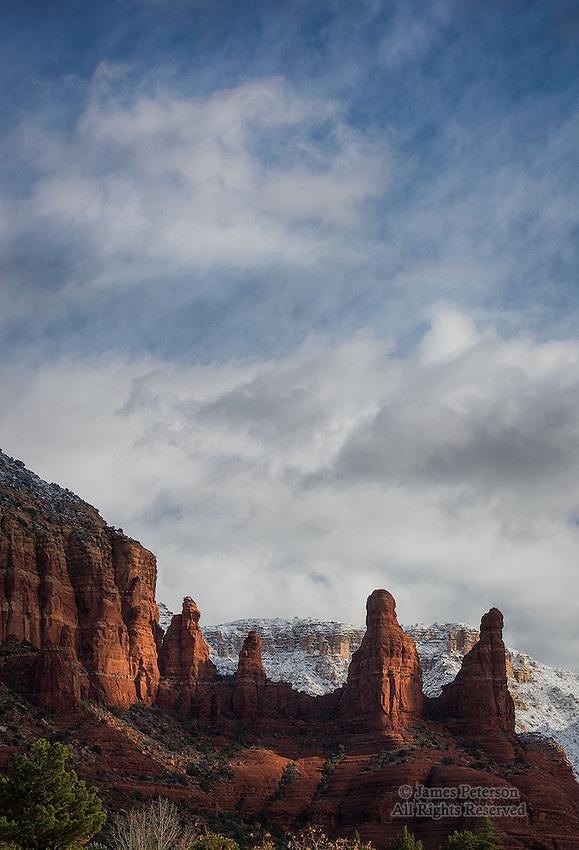 The Sisters after Winter Storm, near Sedona, Arizona