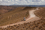 Motorcycle rider Toby Price from Australia riding his KTM bike during the 5th stage of the Dakar Rally 2016 in the Bolivian Altiplano.