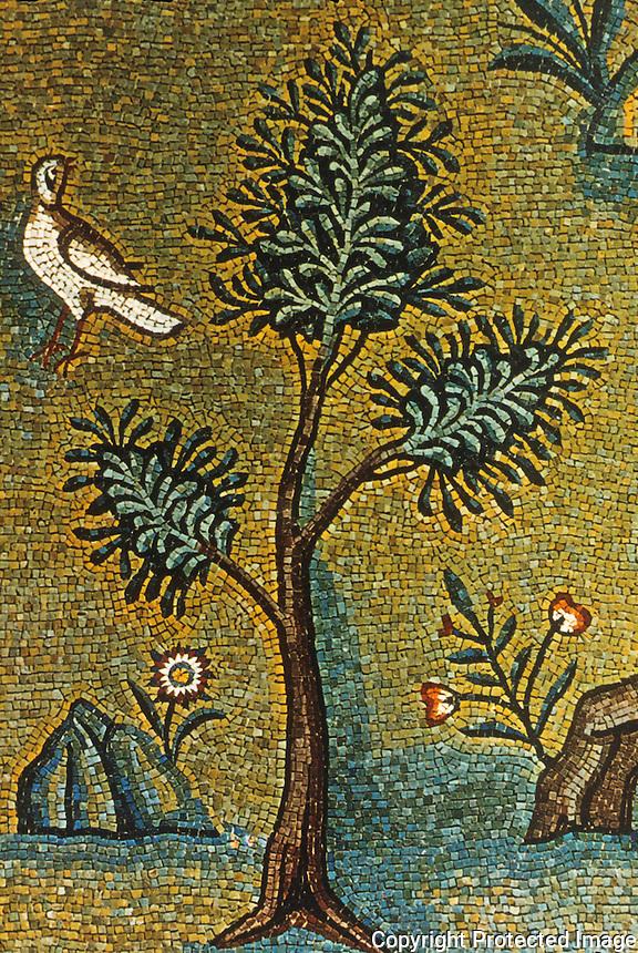 Ravenna: Basilica of Sant' Apollinare. Mosaic detail, Apse.