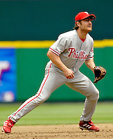 11 June 2006: David Bell, third baseman for the Philadelphia Phillies, stands ready during a game against the Washington Nationals at RFK Stadium, in Washington, DC. The Nationals shut out the visiting Phillies 6-0 to take the series three games to one...Mandatory Photo Credit: Ed Wolfstein Photo..
